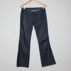 "7FAM Dark Wash ""A"" Pocket Lexie Petite Jeans sz 26"